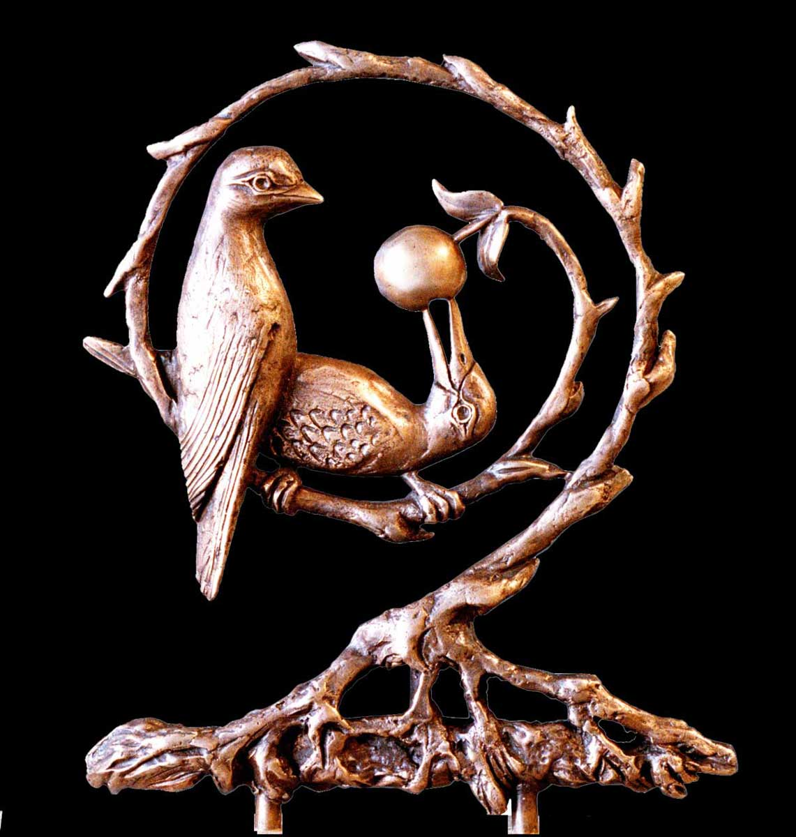 small sculpture based on strophe from Mundakya Upanishad