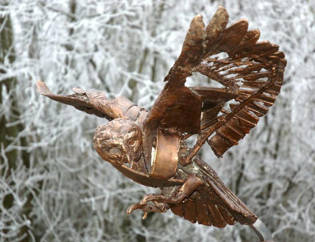 'Bosuil', 2007, brons à cire perdue, eenmalig kunstwerk