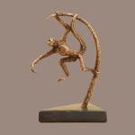 animal sculpture of brachiator monkey