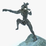 'The jump', 2008, bronze