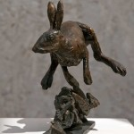 animal sculpture Hare, modelled by heart