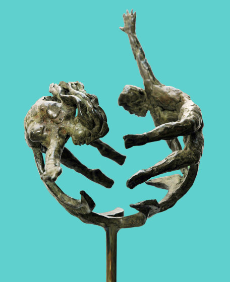 'The Couple-II', 2011, bronze