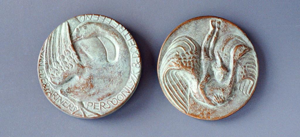 bronzen penning Van Ede& Partners (Niels Holgersson)