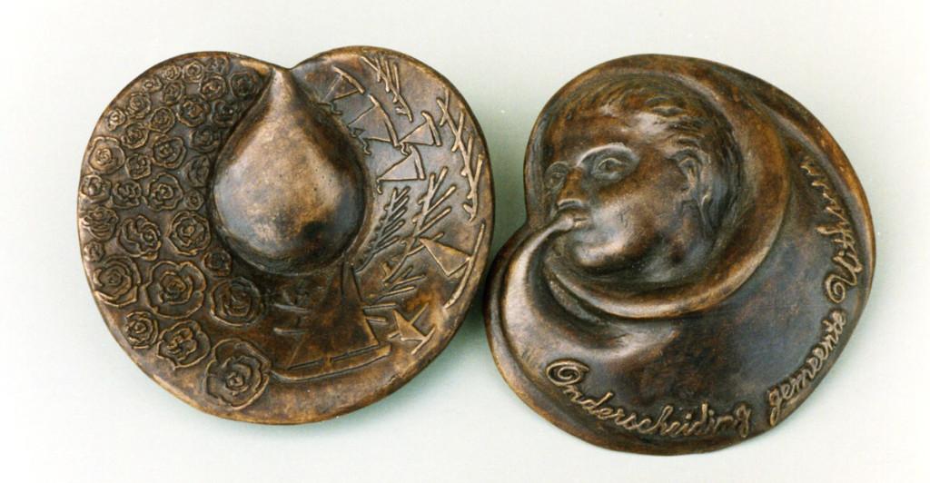 bronzen penning gemeente Uithoorn