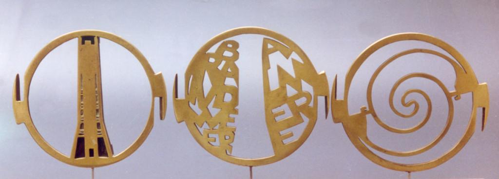 bronzen penning Brandweer Almere