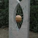 'Sepulchre  JP Blauw', 2005, granite/bronze/stainless steel